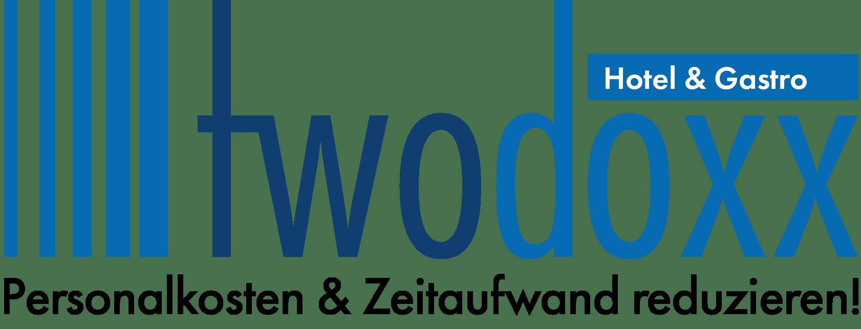 Presse - Logo twodoxx Hotel & Gastro mit Slogan